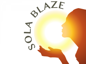designed logo option for Solablaze, Dorset
